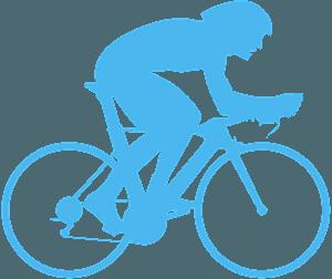 Cycliste silhouette