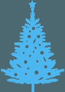 Silueta de Árbol de Navidad vector