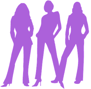 Charlie's Angels vector silhouet