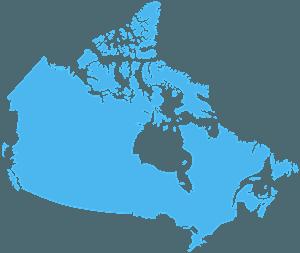 Carte du Canada silhouette