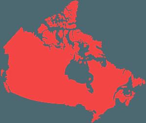 Карта канады - Векторный Силуэт