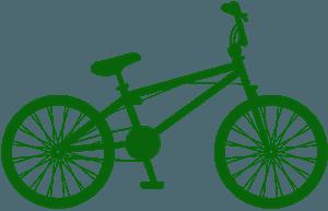 Велосипед BMX - Векторный Силуэт