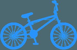 Rower BMX - sylwetka wektorowa