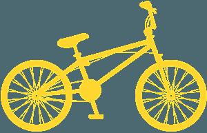 BMX Fahrad vektor silhouette