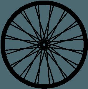Велосипедное колесо - Векторный Силуэт