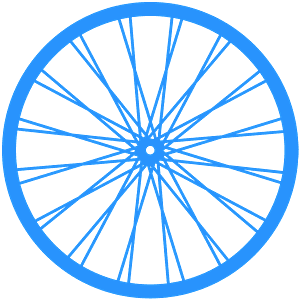 Bike Wheel silhouette