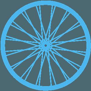 Cykelhjul silhuett
