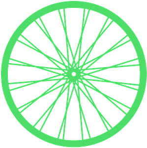 Roue de vélo silhouette