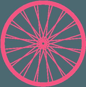 Cykelhjul vektor silhuet