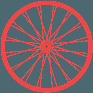 Fahrrad-Rad vektor silhouette