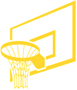 Basketbalring vector silhouet