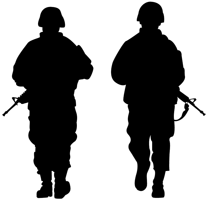 army soldiers silhouette free vector silhouettes creazilla army soldiers silhouette free vector