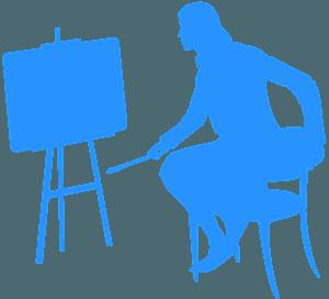 Kunstner vektor silhuet