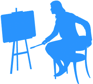 Artysta - sylwetka wektorowa