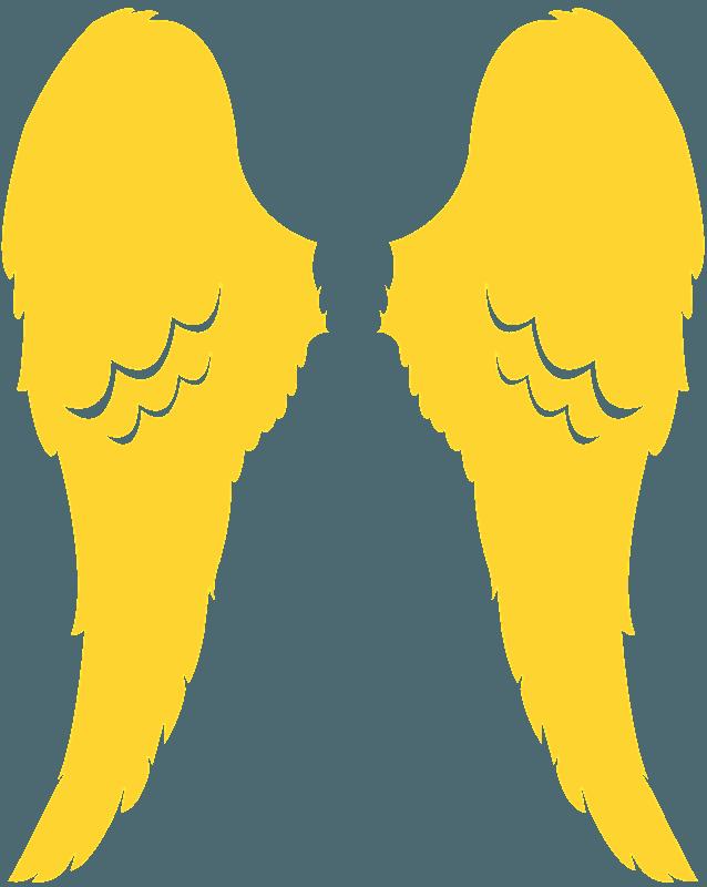 Silhueta De Desenho De Asas De Anjo Vetores De Silhuetas