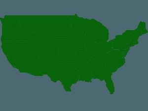 Yhdysvaltain osavaltiot siluetti