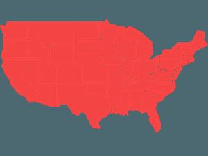 Amerikaanse Staten vector silhouet