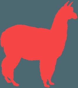 Alpaca silhouette