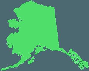 Alaskan kartta siluetti