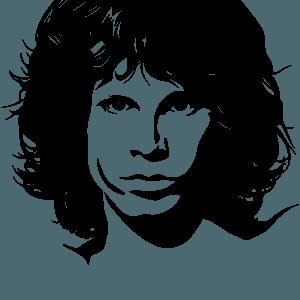 Jim Morrison stencil silhouette