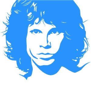Jim Morrison Schablone vektor silhouette