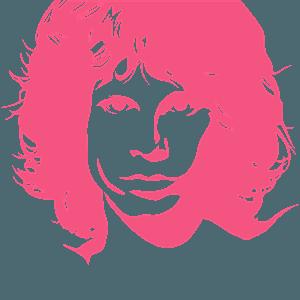 Silueta de Plantilla de Jim Morrison vector
