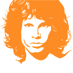 Jim Morrison stencil vector silhouet