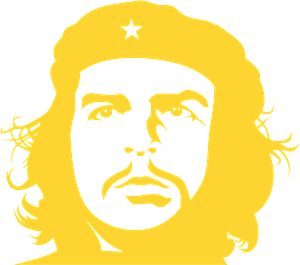 Szablon Che Guevara - sylwetka wektorowa