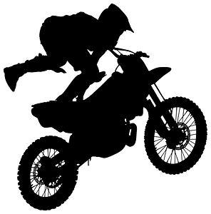 Motocross silhouette