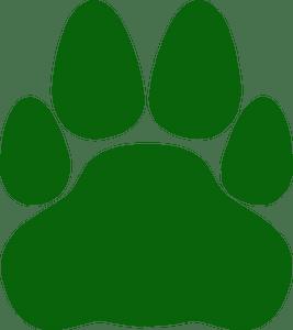 Cat paw silhouette