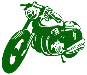 Classic Motorcycle Stencil silhouette
