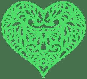 Decorative Ornamental Heart silhouette