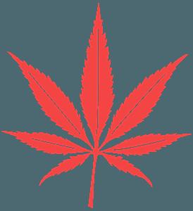 Liść marihuany - sylwetka wektorowa