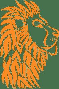 Lion face - Векторный Силуэт