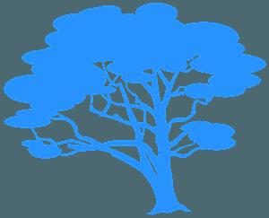 Dąb - sylwetka wektorowa