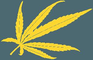 Marihuana blad vector silhouet