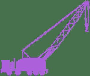 Mobile crane silhouette