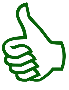 Symbol thumbs up silhouette