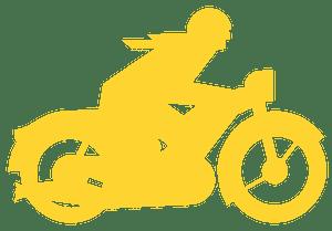 Motorbiker silhouette