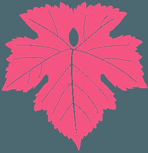 Liść winogron - sylwetka wektorowa