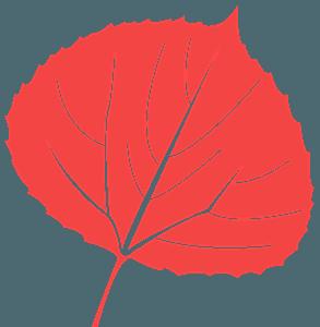 Aspen Leaf silhouette