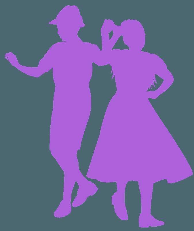 Square Dance Silhouette Free Vector Silhouettes Creazilla