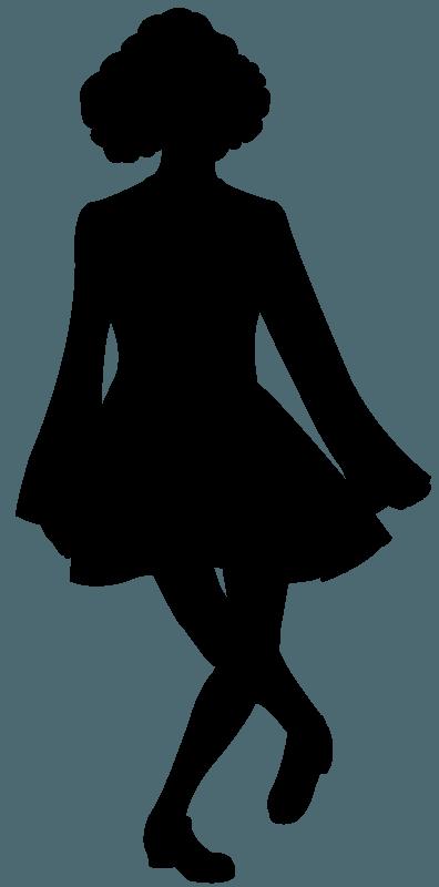 Irish Dance Silhouette Free Vector Silhouettes Creazilla