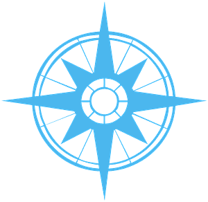 Compass Rose vector silhouet