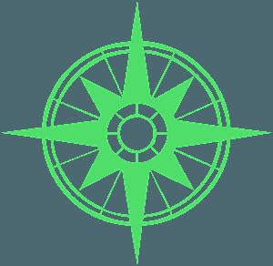 Compass Rose vektor silhouette