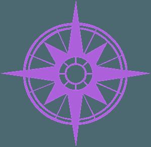 Compass Rose vector silhouet
