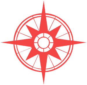 Silueta de Compass Rose vector