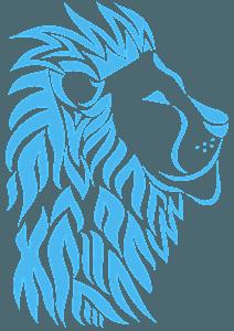 Tribal Lion Head silhuett