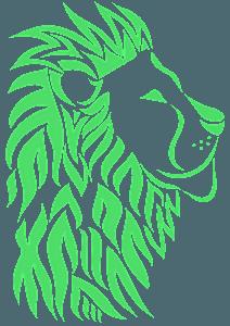 Tribal Lion Head silhouette