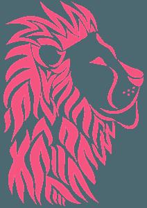 Tribal Lion Head - Векторный Силуэт